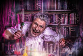 Frightening scientist — Stock Photo