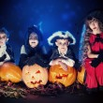 Satanic children — Stock Photo #54936615