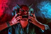 Aggressive devil — Stock Photo