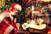 Comic Santa — Stock Photo