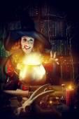 Alchemy woman — Stock Photo