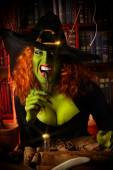 Cauldron witch — Stockfoto