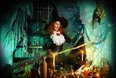 Emotional witch — Stock Photo