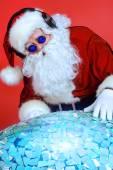 Santa dj — Stock Photo