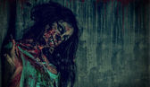 Fear zombie — Stock Photo