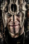 Face of warrior — Stock Photo