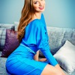 Blue dress — Stock Photo #56658731