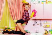 Housewife — Stock Photo