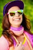 Lachend teenager — Stockfoto
