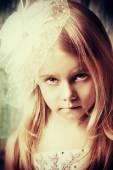 Cute little girl — Стоковое фото