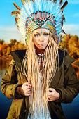 Ceremonial headdress — Stock Photo
