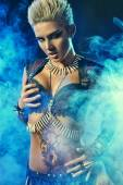 Conqueror woman — Stock Photo