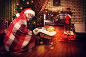 Brincar de Papai Noel — Fotografia Stock