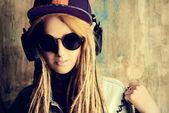 Grunge techno — Stock Photo