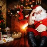 Santa home — Stock Photo #58552659