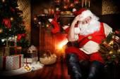 Santa home — Stock Photo