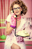 Talking to friend — Photo