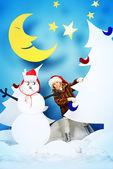 クリスマスの夜 — ストック写真
