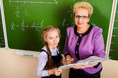 Teacher with student — Fotografia Stock