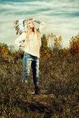 Tribal clothing — Stock Photo