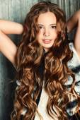 Magnificent long hair — Stock Photo