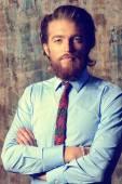 Beard businessman — Stock Photo
