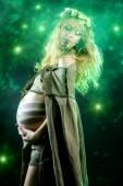 Legen pregnant — Stock Photo