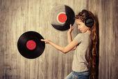 Discos de vinil — Fotografia Stock