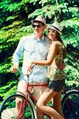 Summer on bicycle — Stock Photo
