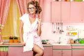 Alluring housewife — Stock Photo