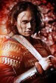 Conqueror costume — Stock Photo