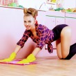 Lady cleaning — Stock Photo #67829195
