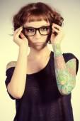 Tetování na ruce — Stock fotografie