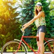 Cycling girl — Stock Photo #68405275