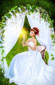 Cheerful fiancee — Stock Photo