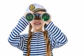 Sailor with binoculars — Stock Photo