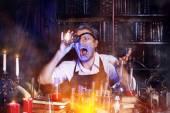 Chemist crazy — Stock Photo