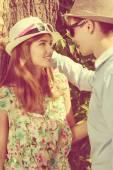 Flirting talk — Stock Photo