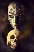 Skull man — Stock Photo
