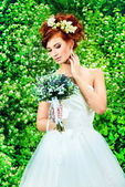 Red-haired fiancee — Stock Photo
