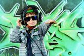 Rap headphones — Stock Photo