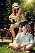 Relationship summer — Stock Photo