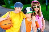 Cool kids — Stock Photo