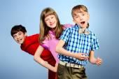 Three children — Stock Photo