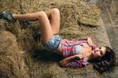 País de calça jeans — Fotografia Stock