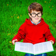 Reading on a grass — Stock Photo #75291211