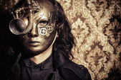 золотая маска — Стоковое фото