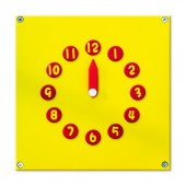 Abstract 3D colorful wooden clock with shadow isolated on white background.The remaining other number in  portfolio. — Stock Photo