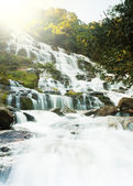 Typical Waterfall in Forest, Mae ya, Chiang Mai province, Thaila — Stock Photo
