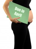 April Due Date — Stock Photo